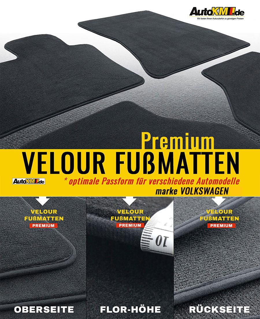 premium velour fu matten volkswagen up 1 12 840150. Black Bedroom Furniture Sets. Home Design Ideas